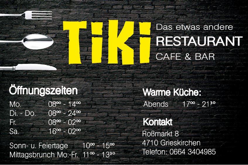 Tiki-Bar in Grieskirchen – Ihre Lokalität von Früh bis Spät!